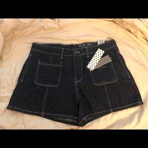 NWT XL Noisy May ModCloth Dark Blue Denim Shorts